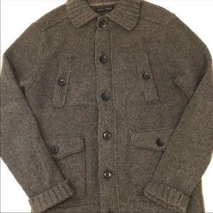 Banana Republic Jackets & Coats - Banana Republic Gray Button Up Wool Jacket sz S